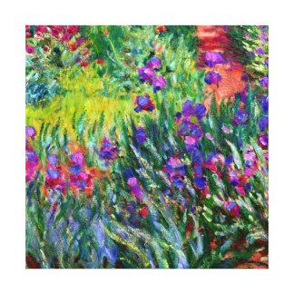 Iris Garden Monet Brush Strokes Canvas Print