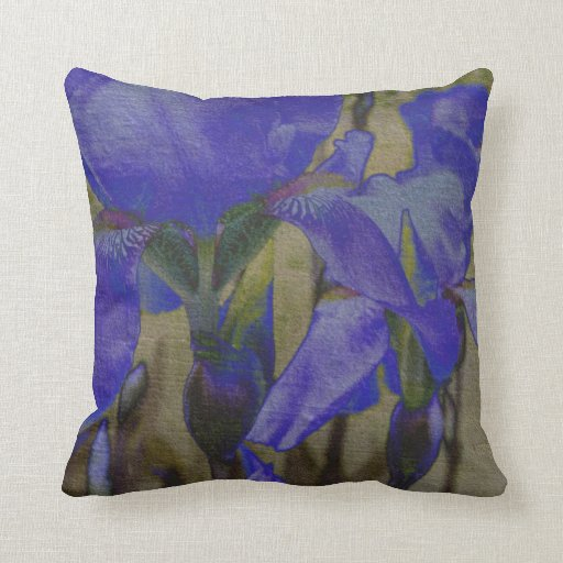 Iris Garden Throw Pillows