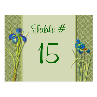 Iris Garden Table Number Card