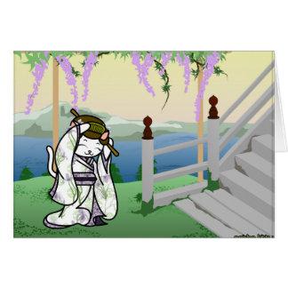 Iris Geisha Kitty Card