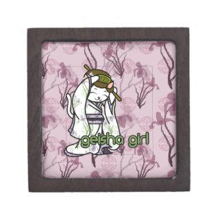Iris Geisha Kitty Premium Trinket Box