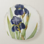Iris Germanica, from `Les Liliacees', 1805 Round Pillow