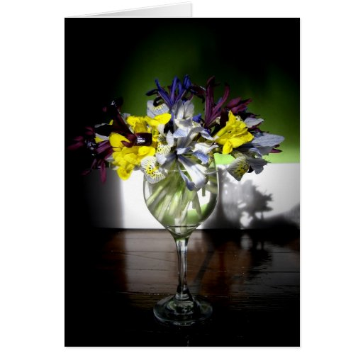 Iris glass greeting card