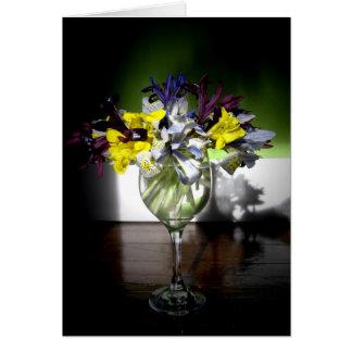 Iris glass greeting cards