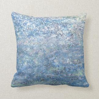 Iris Grace Blue Planet Throw Pillow