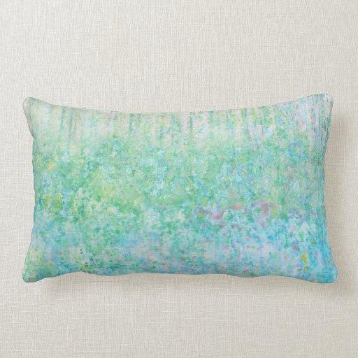 Iris Grace Bluebells Lumbar Throw Pillow