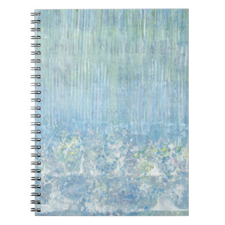 Iris Grace Rain Drops Notepad Spiral Note Book