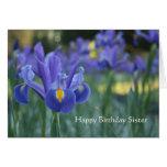 Iris Happy Birthday Sister greeting card
