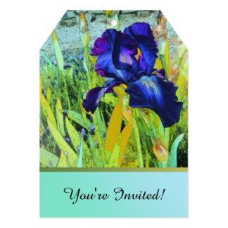 """Iris Harmonies Invitation 5"""" X 7"""" Invitation Card"""
