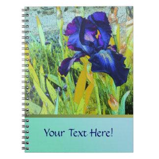 Iris Harmonies Spiral Notebook