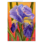 Iris Heat Greeting Card