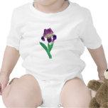Iris holandés púrpura precioso traje de bebé