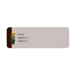 Iris Honey Glazed Save the Date Custom Return Address Labels