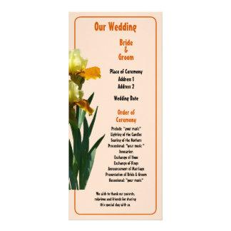Iris Honey Glazed Wedding Program