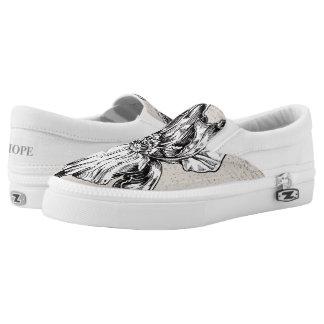Iris Illustration Slip-On Sneakers
