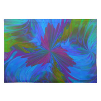 Iris in Blue Cloth Placemat