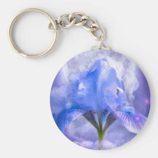 Iris In The Moonlite Art Keychain