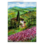 IRIS IN TUSCANY COUNTRYSIDE GREETING CARDS