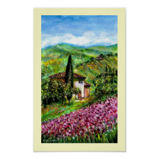 IRIS IN TUSCANY POSTER