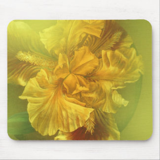 Iris inner beauty (warm yellow) mouse mat mouse pad