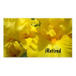 iris iRetired de la naturaleza del retiro de las t Plantilla De Tarjeta De Negocio