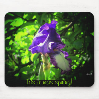 Iris it was spring! mouse pad