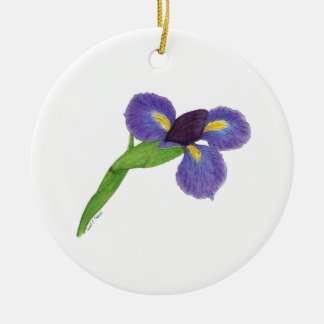 Iris japonés ensata del iris ornamento para arbol de navidad