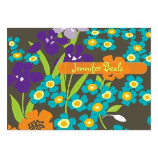 Iris japonés retro plantillas de tarjetas de visita