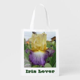 IRIS LOVER REUSABLE BAG WITH IRIS PHOTO