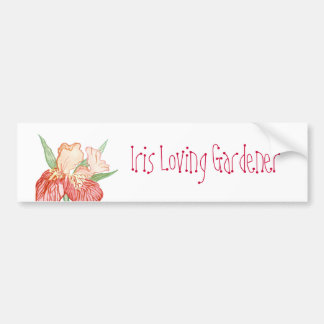 IRIS LOVING GARDENER Bumper Sticker