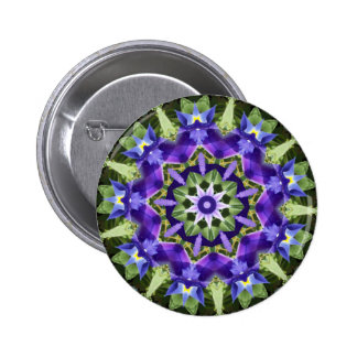 Iris Mandala Button