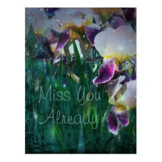 Iris Miss You Already Postcard