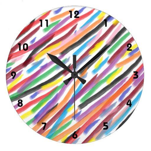 Iris modernos relojes de pared