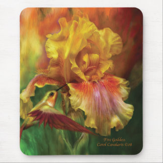 Iris Mousepad de la diosa del fuego