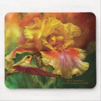 Iris Mousepad de la diosa del fuego Alfombrillas De Ratones