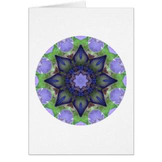 Iris - Nature Mandala Card