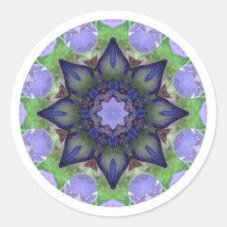 Iris - Nature Mandala Classic Round Sticker