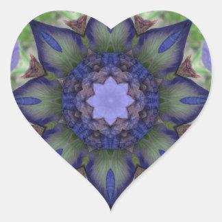 Iris - Nature Mandala Heart Sticker