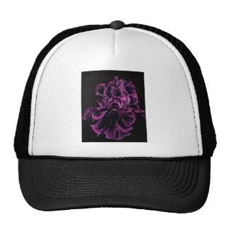 Iris negro gorros bordados
