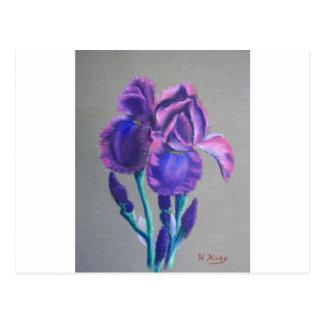 Iris on Linnen Postcard
