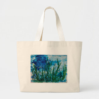 Iris on the Water Edge Large Tote Bag