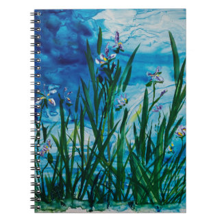 Iris on the Water Edge Notebook(80 Pages B&W) Notebook