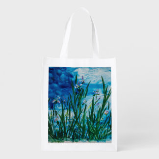 Iris on the Water Edge Reusable Bag