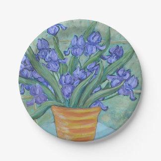 Iris Paper Plate By Brendan Loughlin
