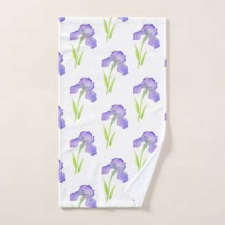 Iris Pattern Bath Towel Set