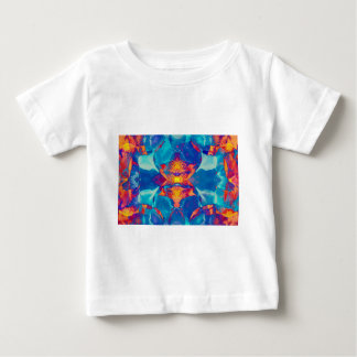 Iris Pattern No.15 in Orange and Turquoise Baby T-Shirt