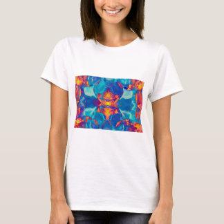 Iris Pattern No.15 in Orange and Turquoise T-Shirt