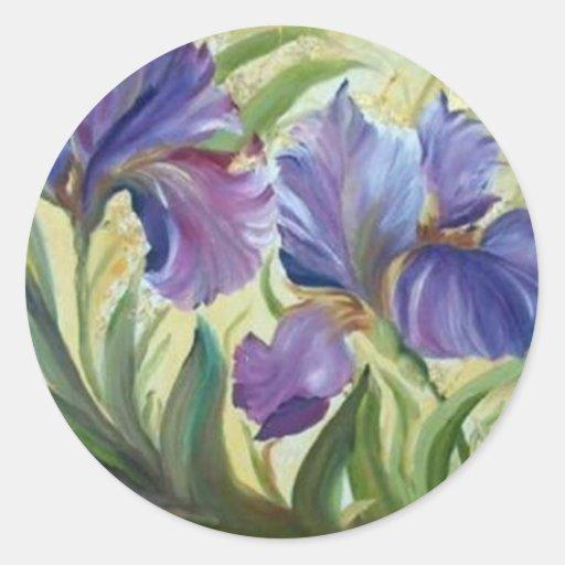 Iris Pegatinas Redondas