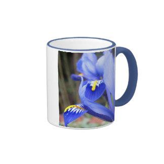 iris petals ringer ceramic mug