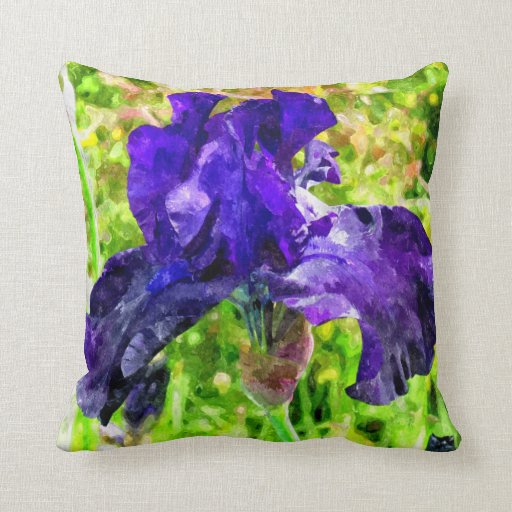 Iris Throw Pillows